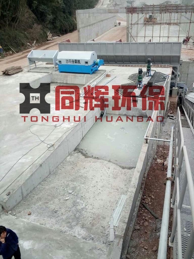 四川用户滚筒型砂石分离机及浆水回收系统安装完成